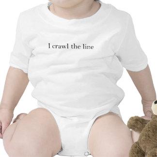 I Crawl the line Baby Bodysuits