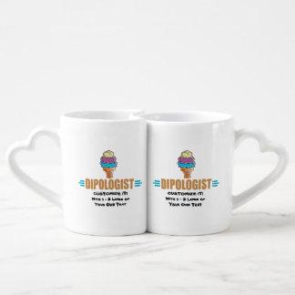 I Cream Parlor Couples' Coffee Mug Set