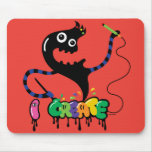 i create monster cool urban mouse pad red