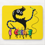 i create monster cool urban mouse pad yellow