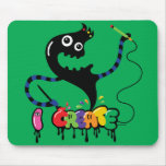 i create monster cool urban mousepad green
