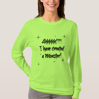 I created a Monster shirt Mom blk/green