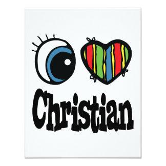 """I cristiano del corazón (amor) invitación 4.25"""" x 5.5"""""""