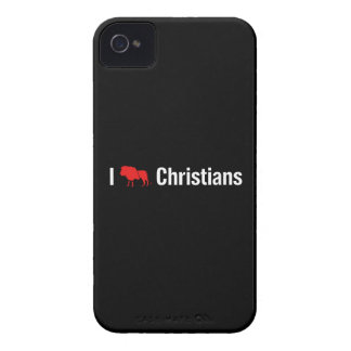 I cristianos del león iPhone 4 protectores
