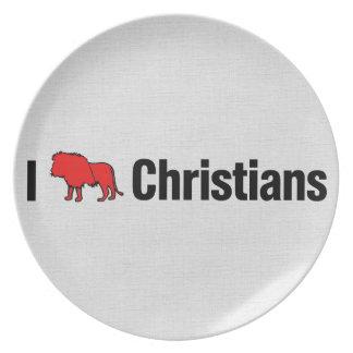 I cristianos del león platos para fiestas