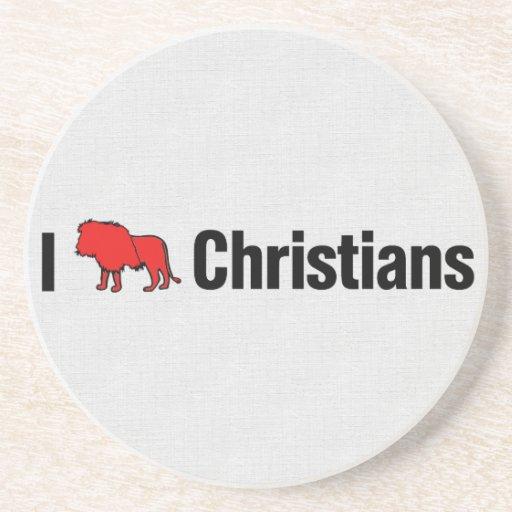 I cristianos del león posavasos manualidades