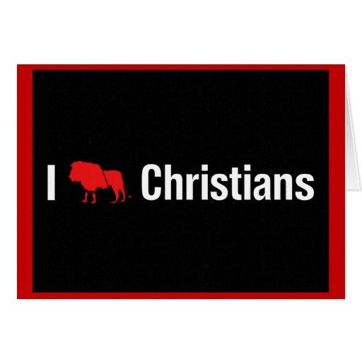 I cristianos del león tarjeta de felicitación