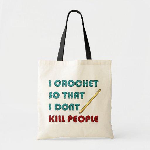 I Crochet, Canvas Bags