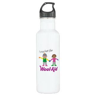 I Crochet for Wool-Aid 1-side Stainless Steel Water Bottle
