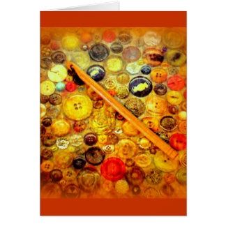 I Crochet Hook Vintage Buttons Card
