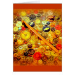 I Crochet Hook Vintage Buttons Greeting Cards