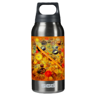 I Crochet Hook Vintage Buttons SIGG Thermo 0.3L Insulated Bottle