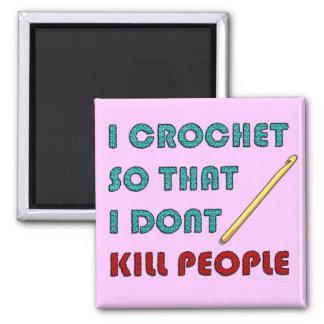 I Crochet, 2 Inch Square Magnet