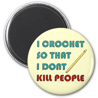 I Crochet, 2 Inch Round Magnet