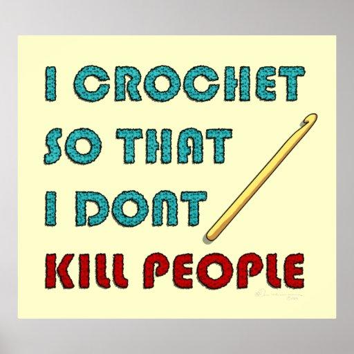 I Crochet, print Poster