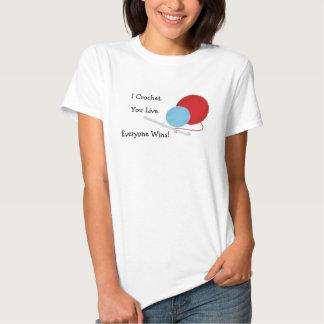 I Crochet You Live Funny Crochet Design T Shirt