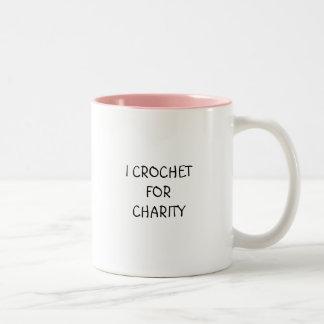 I CROCHETFORCHARITY Two-Tone COFFEE MUG