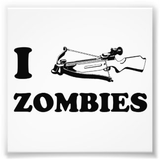 I Crossbow Zombies Photo Print