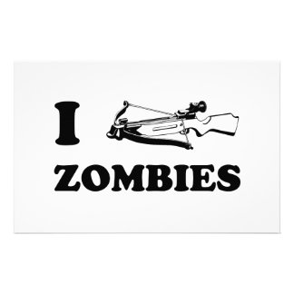 I Crossbow Zombies Stationery Paper
