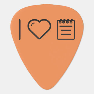 I cuadernos del corazón púa de guitarra