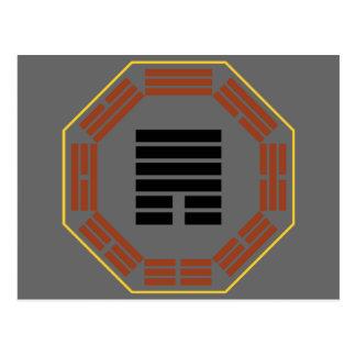 """I cuba """"retratamiento """" del Hexagram 33 de Ching Tarjeta Postal"""