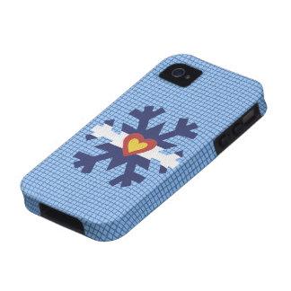 I cubierta del teléfono del copo de nieve de la ba iPhone 4 funda