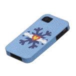 I cubierta del teléfono del copo de nieve de la iPhone 4 funda