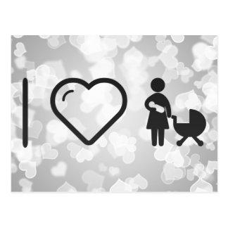 I cuidados de la madre del corazón tarjeta postal