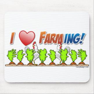 I cultivo del corazón tapete de ratón