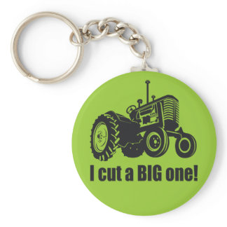 I Cut A Big One - Pride! Keychain