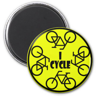 I CYCLE (BICYCLE) 2 INCH ROUND MAGNET