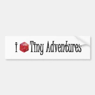 I d20 Tiny Adventures bumper sticker Car Bumper Sticker