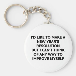 I'd like to make a New Year's resolution Keychain