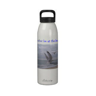 I d rather be at the beach bottle water bottle