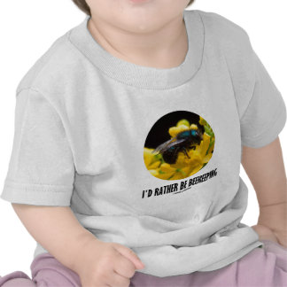 I d Rather Be Beekeeping Bee On Barberry Flower Tshirt