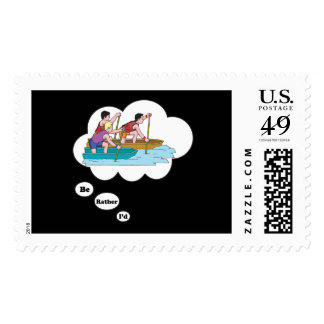 I d rather be Boat Racing 2 Stamps