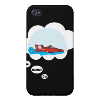 I d rather be Boat Racing Cover For iPhone 4