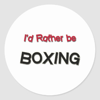 I d Rather Be Boxing Sticker