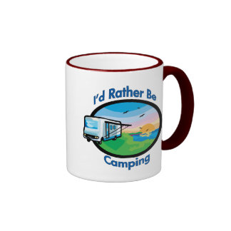 I d rather be camping coffee mug