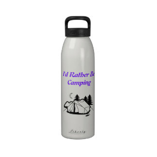 I d Rather Be Camping tent Drinking Bottle