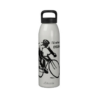 I d rather be CYCLING Cyclist Water Bottle