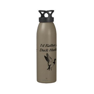 I d Rather Be Duck Hunting Reusable Water Bottle