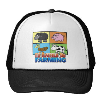 I d rather be farming virtual farmer trucker hats