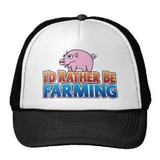 I d Rather be Farming virtual farming Mesh Hat