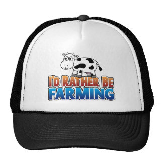 I d Rather be Farming Virtual Farming Trucker Hat