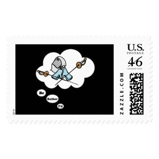 I d rather be Fencing 2 Postage Stamps