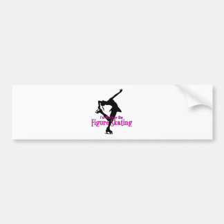 I d Rather Be Figure Skating Bumper Sticker