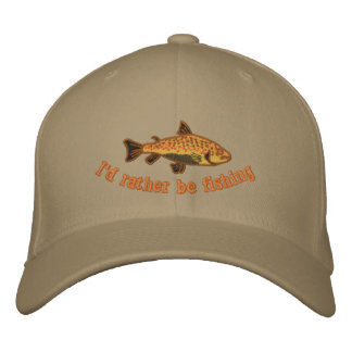 I d Rather be Fishing Cap Embroidered Hats