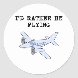 I d Rather Be Flying Sticker