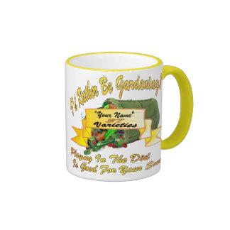I'd Rather Be Gardening! Ringer Mug